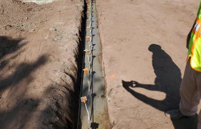 Concrete Footing Pour