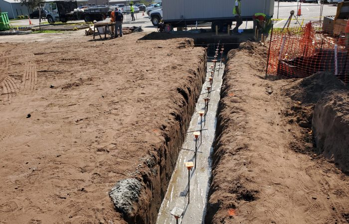 Concrete Footing Pour