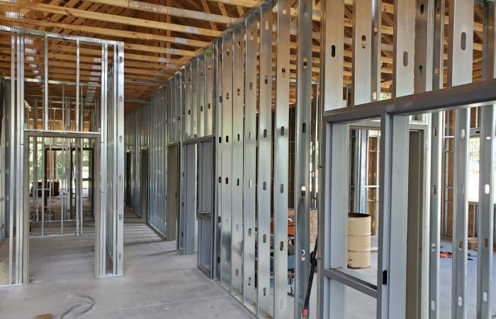 Metal Stud and Wood Framing
